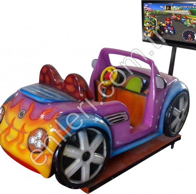 Ekranlı Mario Araba Eğlence Makinesi